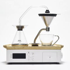 BARISIEUR 智能蒸餾咖啡鬧鐘 (橡木 - 白) CF502