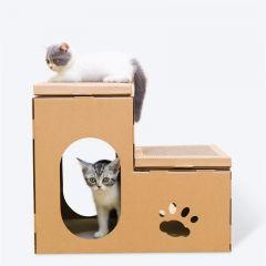 DEKU 貓抓板-X05 (雙層階梯貓屋) (CP-088)