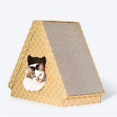 DEKU 貓抓板-X08 (三角平板花紋貓屋) (CP-238-01)