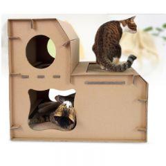 DEKU 貓抓板-X27 (瓦楞紙雙層階梯貓屋) (CP-074)
