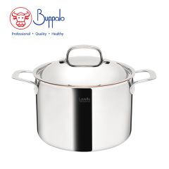 BUFFALO - LaVetta  5-Ply Copper Clad 24CM Stockpot with stainless steel lid (CU50124H) CU50124H