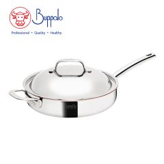 BUFFALO - LaVetta  5-Ply Copper Clad 28CM Frypan with stainless steel lid (CU50128T) CU50128T