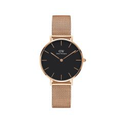 DW Classic Petite Melrose Watch RG Black 32mm DW00100164
