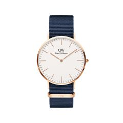 DW Classic Bayswater Watch RG White 40mm DW00100291