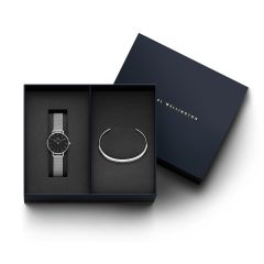 DW Gift Set (Classic Petite Sterling Watch S Black 28mm + Classic Bracelet S Small DW00500204