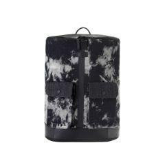 Frequent Flyer Captain - Zip Around Backpack (L) - Tie Dye Denim Black