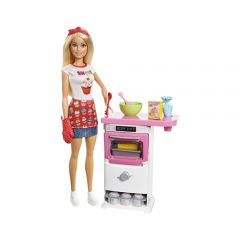 Mattel Games - Barbie® Bakery Chef Doll and Playset FHP57