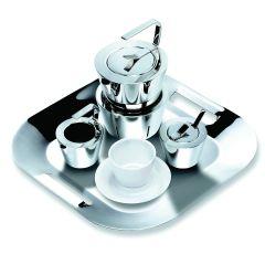 Métier -「井」茶具禮盒套裝(包含:茶壺及加熱座、盛糖器、奶壺、托盤、2 套杯碟) G-011