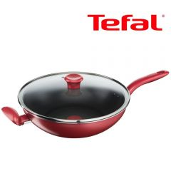 Tefal - 30厘米易潔炒鍋連玻璃蓋 (電磁爐適用) G13594 G13594