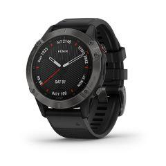 Garmin - Fenix 6 藍寶石頂級多功能運動 GPS智能手錶 (繁中/簡中/英文) (石墨灰DLC錶圈配黑色矽膠錶帶) GM_FENIX6C_BK