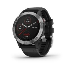 Garmin - Fenix 6 頂級多功能運動 GPS智能手錶 (英文) (銀色錶圈配黑色矽膠錶帶) GM_FENIX6I_SV