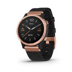 Garmin - Fenix 6S 藍寶石頂級多功能運動 GPS智能手錶 (英文) (玫瑰金錶圈配黑色尼龍錶帶) GM_FENIX6SI_BKG