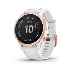 Garmin - Fenix 6S Pro 頂級多功能運動 GPS智能手錶 (繁中/簡中/英文) (玫瑰金錶圈配白色矽膠錶帶) GM_FENIX6SPC_WHG