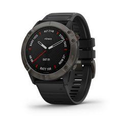 Garmin - Fenix 6X 藍寶石頂級多功能運動 GPS智能手錶 (繁中/簡中/英文) (石墨灰DLC錶圈配黑色矽膠錶帶) GM_FENIX6XC_CBK