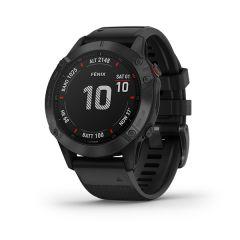 Garmin - Fenix 6X Pro 頂級多功能運動 GPS智能手錶 (英文) (黑色圈配黑色矽膠錶帶) GM_FENIX6XPI_BK
