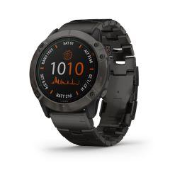 Garmin - Fenix 6X Pro Solar 太陽能鏡面頂級多功能運動 GPS智能手錶 (繁中/簡中/英文) (石墨灰DLC鈦錶圈配鈦錶帶) GM_FENIX6XPSOLC_TI