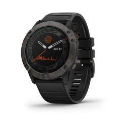Garmin - Fenix 6X Pro Solar 太陽能鏡面頂級多功能運動 GPS智能手錶 (英文) (石墨灰DLC鈦錶圈配黑色矽膠錶帶) GM_FENIX6XPSOLI_BK