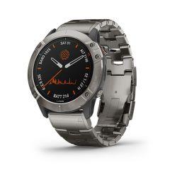Garmin - Fenix 6X Pro Solar 太陽能鏡面頂級多功能運動 GPS智能手錶 (英文) (鈦錶圈配鈦錶帶) GM_FENIX6XPSOLI_TI