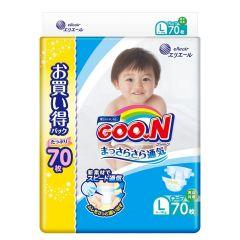 日本直送GOON ( 原箱)日本增量版L70 大碼紙尿片x 3包