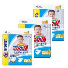 日本直送GOON (原箱)日本增量版M82 中碼紙尿片x 3包