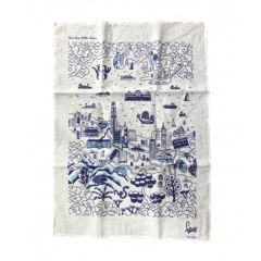 Hong Kong Willow Pattern Tea Towel HKWPTT
