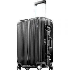 Hallmark Design Collection 4輪20吋金屬鋁框行李箱(黑色)(HM828FT)