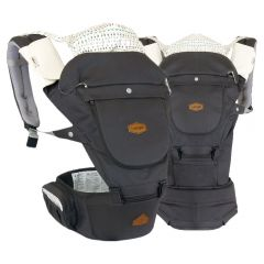 I-Angel - Miracle 4 Seasons Hip Seat Carrier - Charcoal Grey