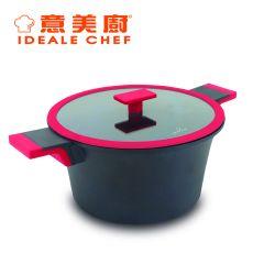 意美廚 - Distinct 鋼化鑄鋁非凡系列  6.7公升易潔雙耳煲玻璃蓋 黑色 (IC15228S) IC15228S