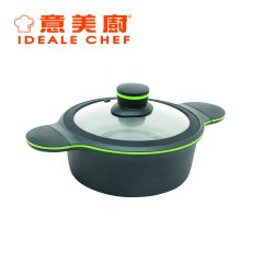 Ideale Chef -  CLOVER 2.4L Non-stick Stock Pot with Glass Lid (IC15520C) IC15520C