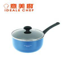 意美廚 - 意大利製 Famosa系列20厘米易潔單柄煲連玻璃 藍色(IC21520P)