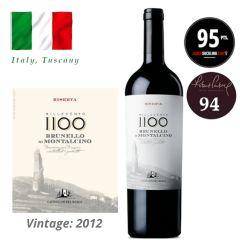 """Castiglion del Bosco - Brunello di Montalcino Riserva """"Millecento"""" DOCG 2012 (JS 95) ITCB06-12"""