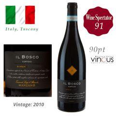 """Tenimenti Luigi D'Alessandro - Cortona Syrah """"IL Bosco"""" DOC 2010 (WS 91) ITDA01-10"""