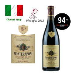 Monteraponi - Toscana Rosso Baron' Ugo IGT 2013 (JS 94) ITMO03-13