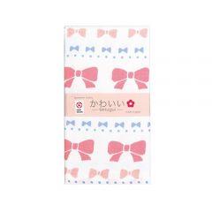 Cotton Essence - Ribbon Gauze-pile Face Towel - White JK-5705