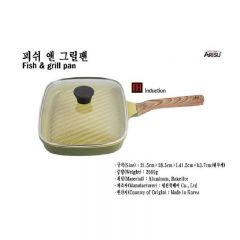 Kitchen Arisu - IH Olive Greenwood Frypan Series - 28.5CM 煎鑊 KAIHFG