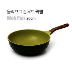 Kitchen Arisu - IH Olive Greenwood Frypan Series - 26CM 深炒鍋 KAIHW26CM