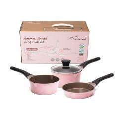 Kitchen Arisu - Minimal Pink 16CM 4Pcs set (炸鍋