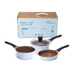 Kitchen Arisu - Minimal 18CM (淺藍) 4Pcs set (炸鍋