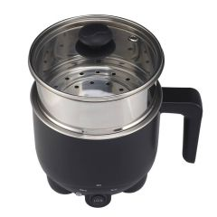 Cuisintec Mini Cooker (Black) + Stainless Steel Food Steamer (Silver) - KC-8708 + 0335 (HK Version) KC-8708_0335