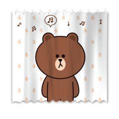 Line Friends - 熊大浴簾180x180厘米