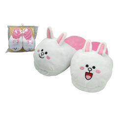 Line Friends - 兔兔3D毛絨拖鞋 LFP11859