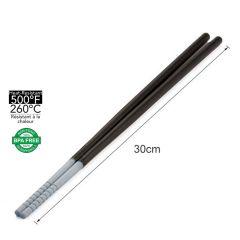 diseno - 矽膠煮食長筷子30cm (灰色) LGDI-HW0805