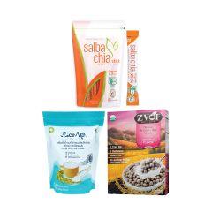 Salba Chia & ZVOF & L.I.F.E. - 營養早餐套裝•有機超營奇亞籽 - 黑莓米脆穀物(原味) - 有機初米奶粉(獨立包裝) - 即食•美味 LIFE_BD-CSY