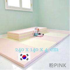 Carre Bebe - Baby Living playmat 240x140x4cm (Cream/PINK) 03 LIV240_140_C_PK