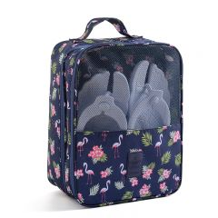 LE MAURICE - 旅行鞋袋 (火烈鳥圖案)