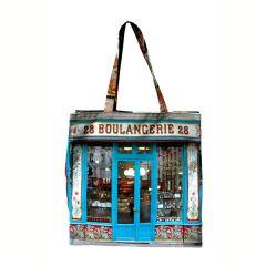 MBJPAREMICA2 Maron Bouillie 巴黎傳統老店圖案手提袋 (小) - Boulangerie 麵包店