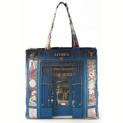 MBJPAREMICA23 Maron Bouillie 巴黎傳統老店圖案手提袋 (小) - Livres 書店