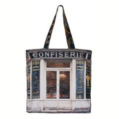 MBJPAREMICA9 Maron Bouillie 巴黎傳統老店圖案手提袋 (小) - Confiserie 蛋糕店