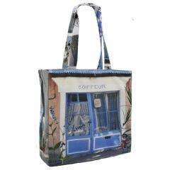 MBJPRRE02 Maron Bouillie 法國南部普羅旺斯風景圖案手提袋 (雙面) - 藍色