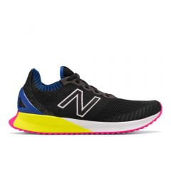 New Balance Mens Fuelcell Echo Black with UV Blue & Sulphur Yellow
